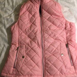 Allegra K pink vest NWT L 2 pockets zipper